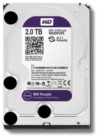 Жесткий диск Western Digital Purple 2 TB (WD20PURX)
